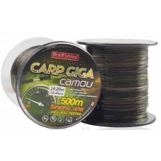 Леска 500м. 0,25 BratFishing Carp Giga Dark Brown (коричневый)