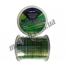 Леска 1000м. 0,35 Megastrong (черно-зеленая)