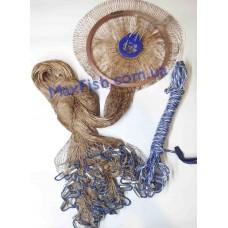 Кастинговая сеть 4м Капроновая нить с кольцом