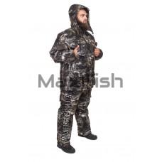 Зимний костюм для рыбалки и охоты Ситка зеленый