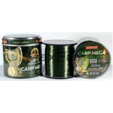 Леска 300м. 0,30 BratFishing Carp Mega Dark Green